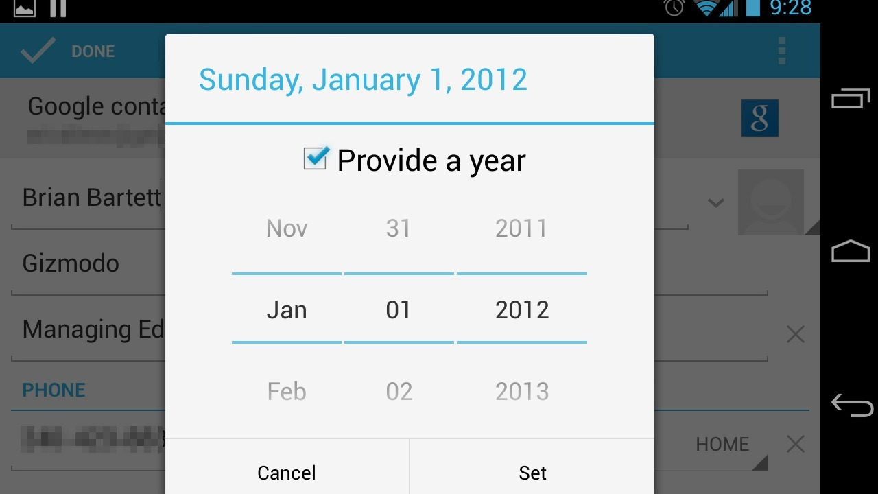 In Android, December Forget You: Month of December Missing in Jelly Bean 4.2