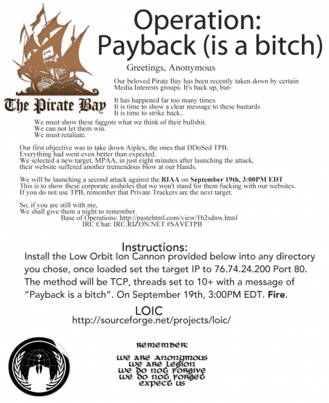 operation payback poster