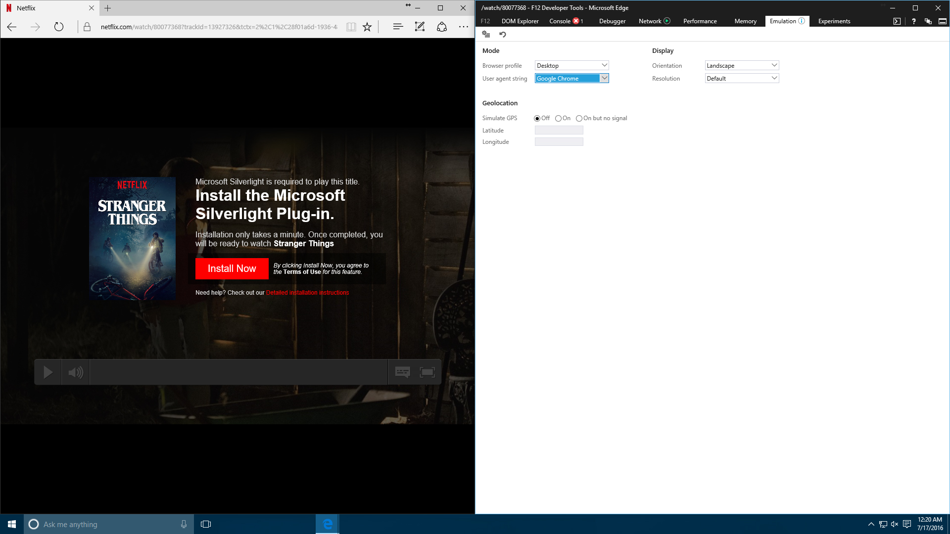 Microsoft is the Only Option for HD Netflix in the Browser